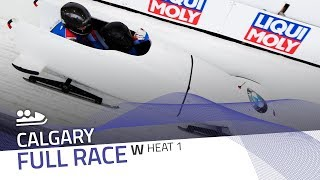 Calgary | BMW IBSF World Cup 2018/2019 - Women's Bobsleigh Heat 1 | IBSF Official