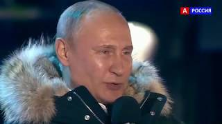 Путин спасибо всем ПОБЕДА РОССИЯ УРА. «Спасибо, что у нас такая мощ...