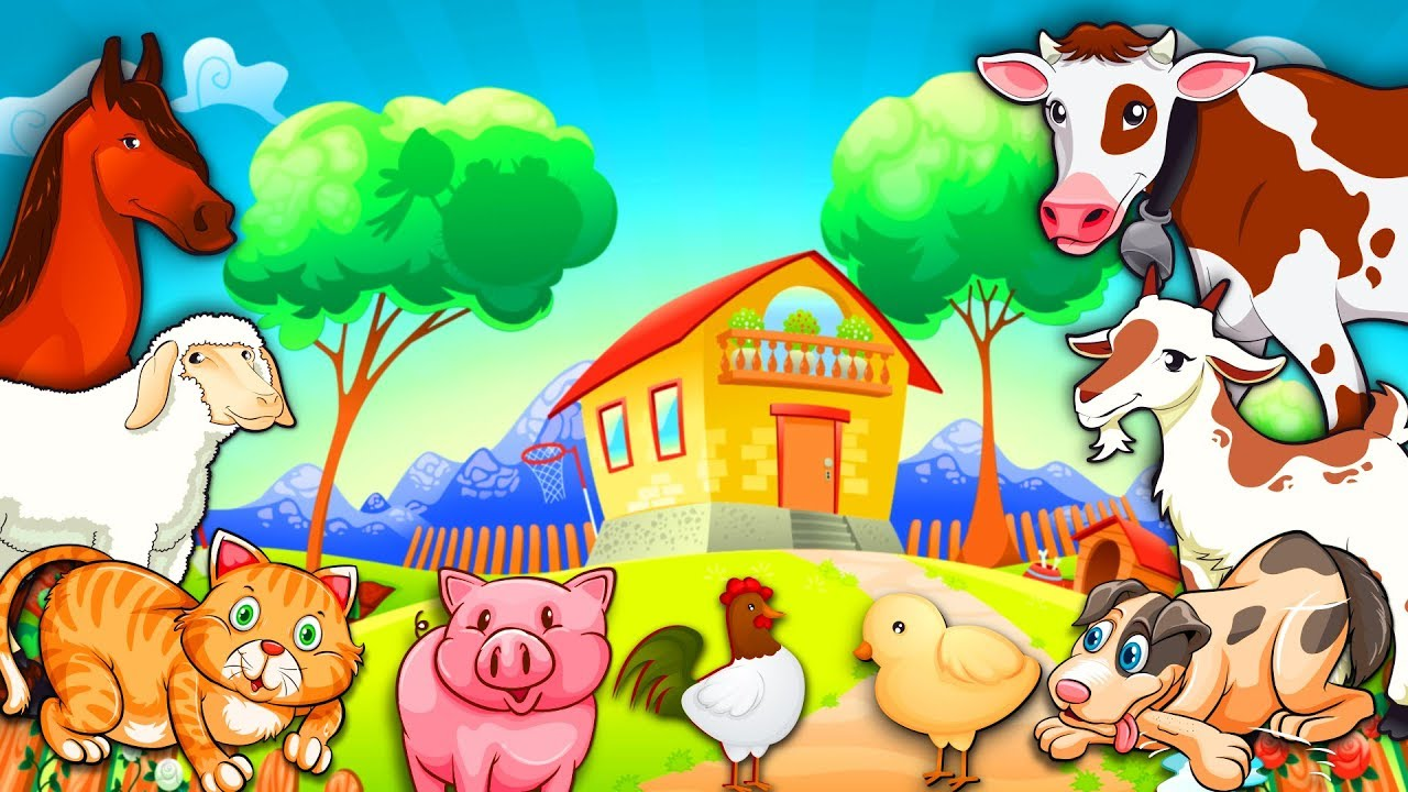 Learn Farm Animals Names and Sounds with Cartoon Animals | KIDS ...