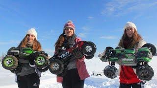 3 Girls + 1 Dad = RC Snow Fun!!