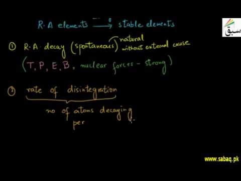 Laws of Radioactive decay