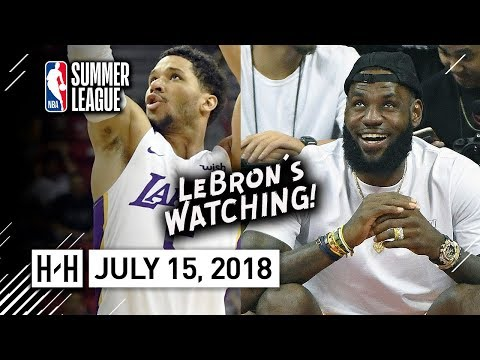 Josh Hart Full SL Highlights Lakers vs Pistons (2018.07.15) - 18 Pts in front of LeBron!
