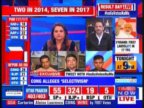 Discussion on UP, Uttarakhand, Manipur, Goa, Punjab election results 2017 on Times Now
