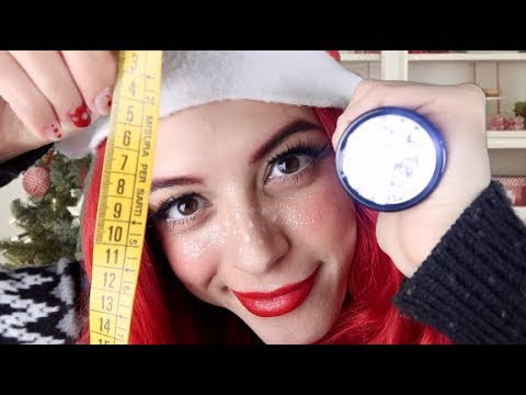ASMR | Santa's Little Helper Gives You A Physical Exam & Measures You!
