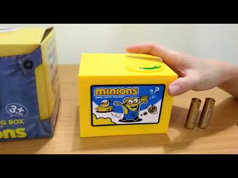 New Cut Automatic  Stole Coin Piggy Bank Minion Mischief Sacing Box