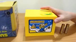 New Cut Automatic  Stole Coin Piggy Bank Minion Mischief Sacing Box
