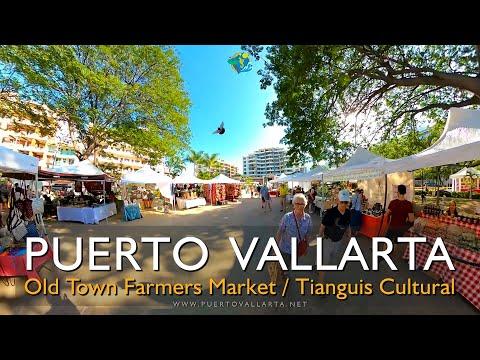 Old Town Farmers Market Puerto Vallarta Full Tour (07/12/2019) Tianguis Cultural en Viejo Vallarta