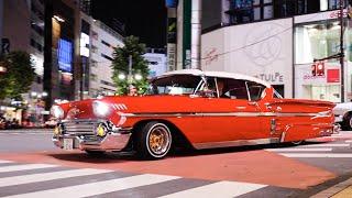 【渋谷ジャック】深夜に集まるアメ車達!!/Shibuya lowrider night!!