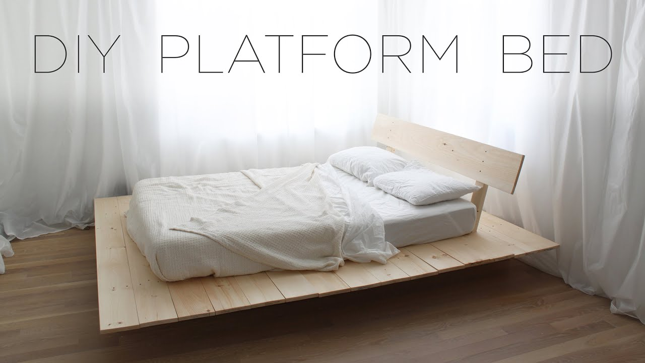 Diy platform bed modern diy furniture projects from for Simple bed diy