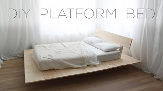 diy platform bed modern diy furniture projects from homemade modern