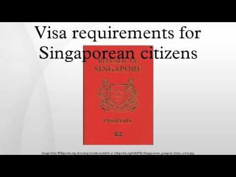 Visa requirements for Singaporean citizens