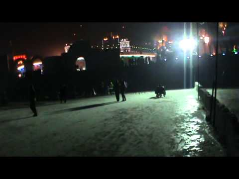 playing in Harbin ice land