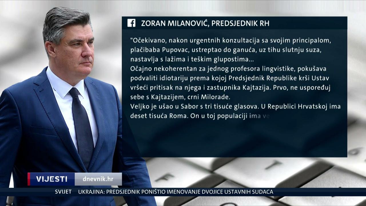 """Download Milanović sasuo paljbu Pupovcu """" ja bih se na tvom mjestu figurativno ubio...."""""""