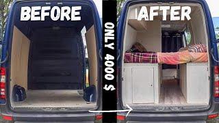 #Vanlife   DIY Sprinter VAN Conversion  TIMELAPSE  Inexpensive Building!