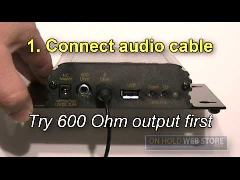 How to Install / Connect an On Hold Music & Message Player to a Telephone System
