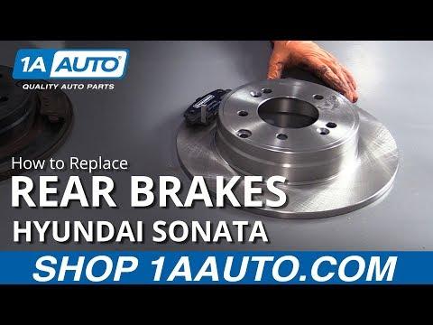 How to Replace Rear Brakes 11-14 Hyundai Sonata