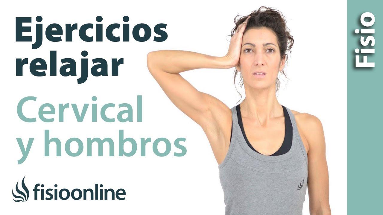 Ejercicio para relajar cervicales y hombros - Isométricos de cuello ...