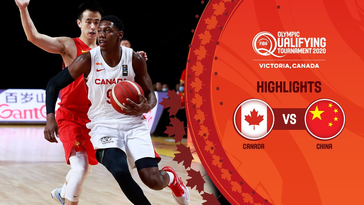 China vs Canada Basketball Game Highlights, 2020 Olympic Qualifying Tournament