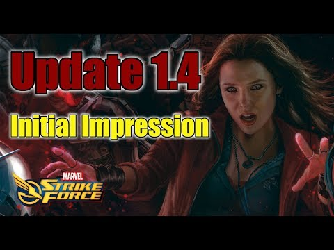 Update 1.4 Initial Impression and Scarlet Witch 1.7 Gameplay- Marvel Strike Force