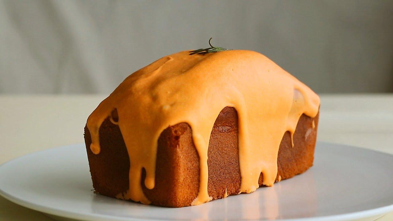 정말 찐한 황치즈파운드케이크/How to make Cheddar Cheese Pound Cake(flour batter)