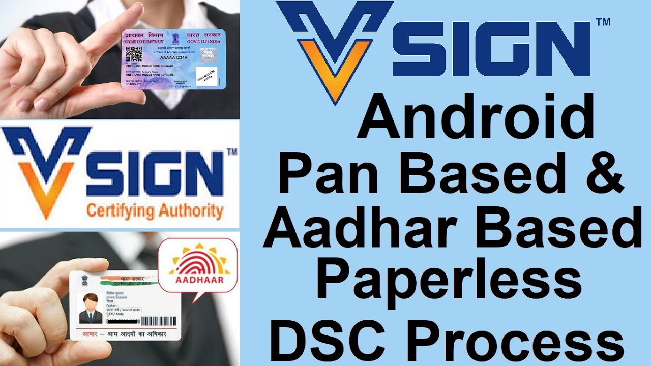Vsign Digital Signature By Android Application Dsc By App V Sign Android Application Youtube