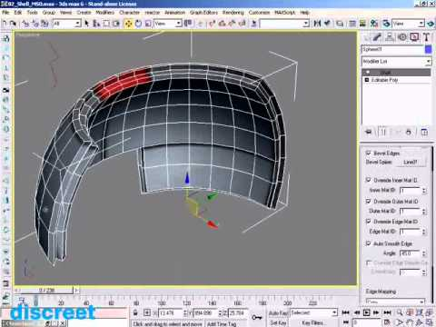 3dsmax 6 new features shell and skin mirror demonstration - YouTube