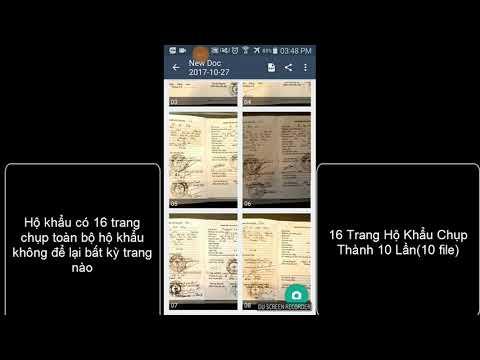 Video Hướng Dẫn Chụp Hình Hộ Khẩu OCB