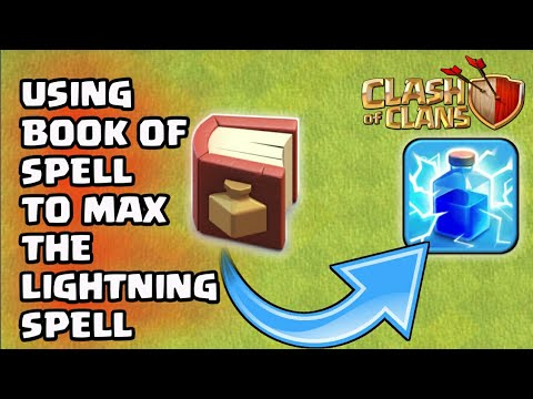 USING BOOK OF SPELL TO MAX THE LIGHTNING SPELL😎||CLASH OF CLANS