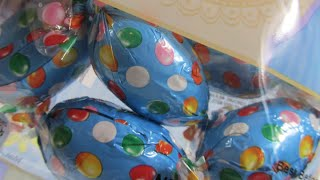 chocolate surprise eggs unwrapping choceur beanie eggs