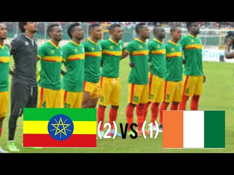 Ethiopia vs Ivory Coast 2-1 AFCON2021 QUALIFIERS (19/11/2019)