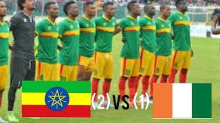 Ethiopia vs Ivory Coast 2-1 AFCON2021 QUALIFIERS 19112019