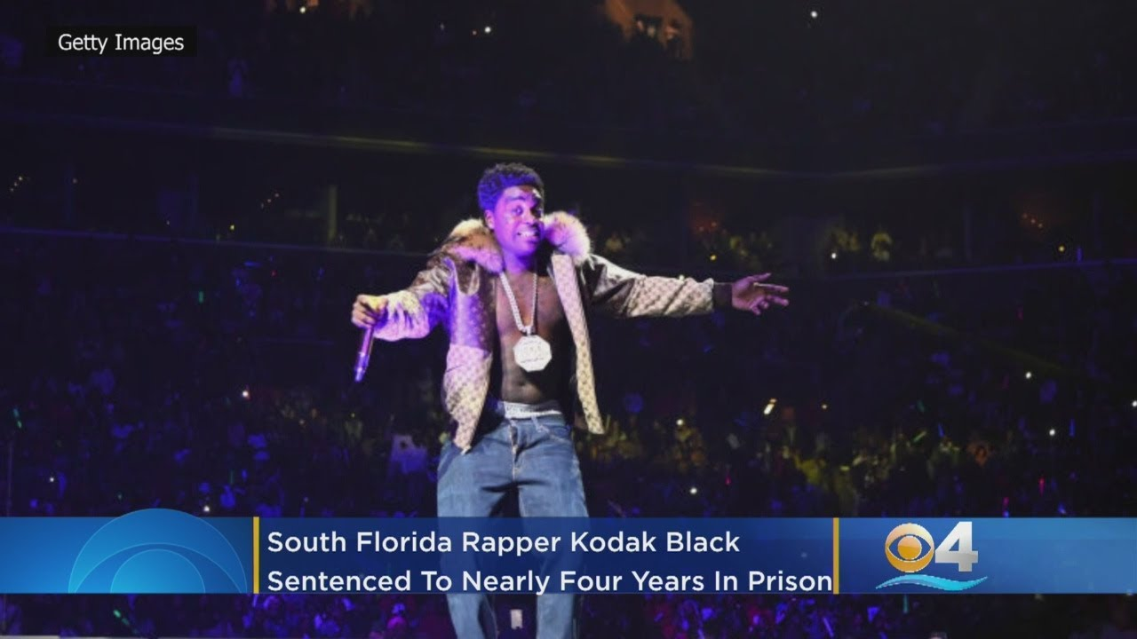 Rapper Kodak Black sentenced to nearly four years in federal prison