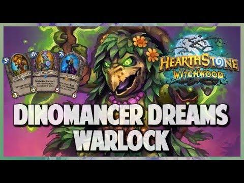 Dinomancer Dreams Warlock | Surviving Standard 104 | Hearthstone | The Witchwood