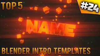 TOP 5 Blender intro templates #24 (Free download)