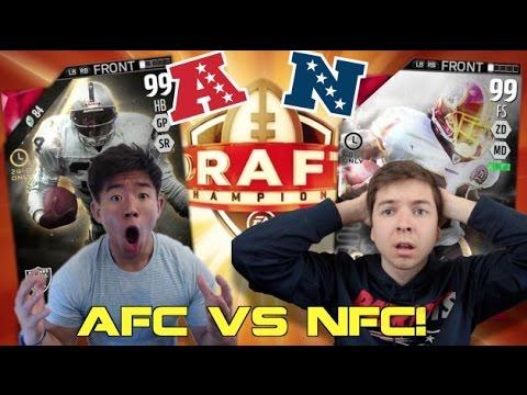 AFC VS NFC w/ TDPRESENTS! GOLDEN TICKET!? Madden 16 Draft Champions