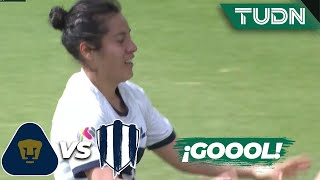 ¡Goool de Pumas! Golazo de Daniela | Pumas 2 - 2 Monterrey | Liga Mx Femenil - CL 2020 J-3 | TUDN