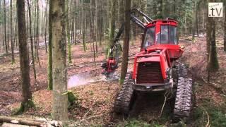 Vollernter im Einsatz für den Windpark im Hardthäuser Wald