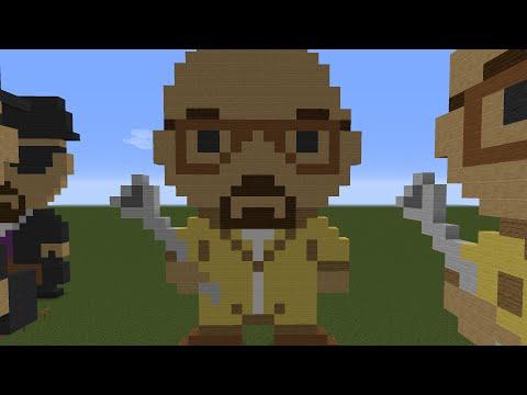 Minecraft Tutorial: Pixel Art Breaking Bad Walter White Heisenberg