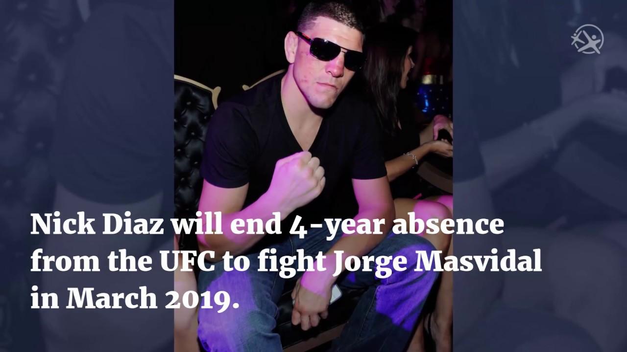 Nick Diaz will return to fight Jorge Masvidal
