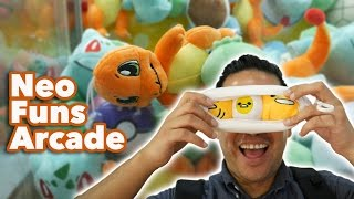 Pokemon claw machine wins and more at NeoFuns arcade!
