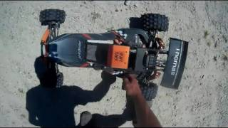 RC fahren in der Grube Amewi Pitbull, HPI Baja, Carbon Figter