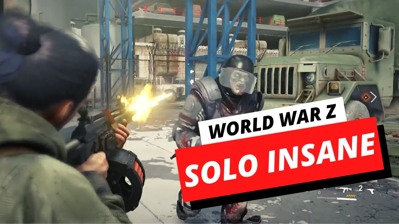 Solo World War Z Insane Difficulty – Partial HUD, Lv2 Medic Class, No Commentary (Tokyo Final Call)