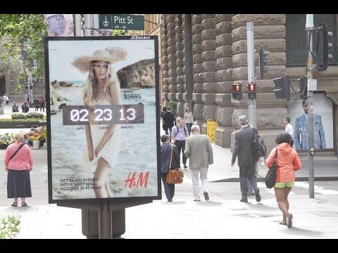 H&M Sydney Store Launch Countdown | JCDecaux Australia