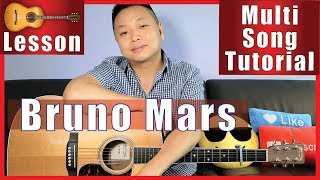 How To Play Bruno Mars Songs on Guitar - Multi-Song Guitar Tutorial