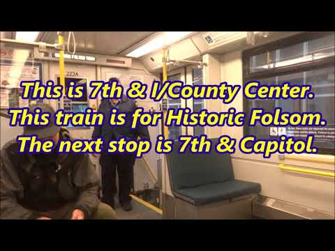 Riding Sacramento Light Rail from SAC Valley Station to Hist