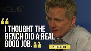Warriors' Steve Kerr on win versus the Grizzlies