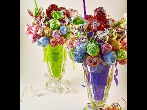 Edible Candy Bouquet Lollipop Malt How-to Video | RadaCutlery.com