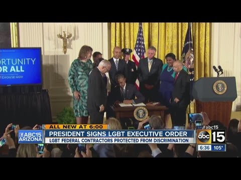 President Obama signs LGBT executive order