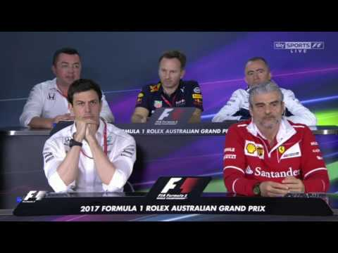 F1 Australia 2017 Senior Team Personnel press conference