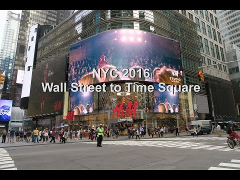 My Postcards 006: Wall Street to Time Square New York Trip 2016